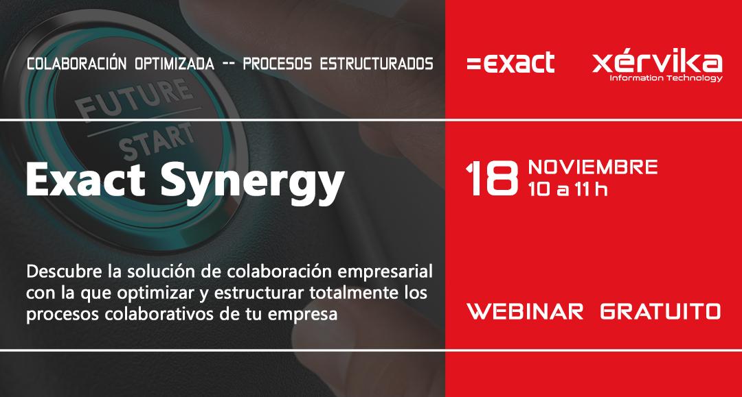 Próximo webinar de Exact Synergy
